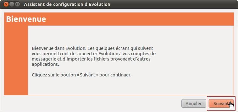 Configurer la messagerie Evolution Linux Ubuntu